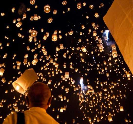 Sky Lanterns (Wikipedia Photo licensed under Creative Commons)