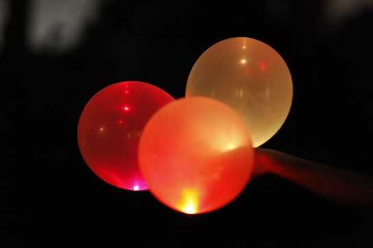 Inflated Balloons with LEDs